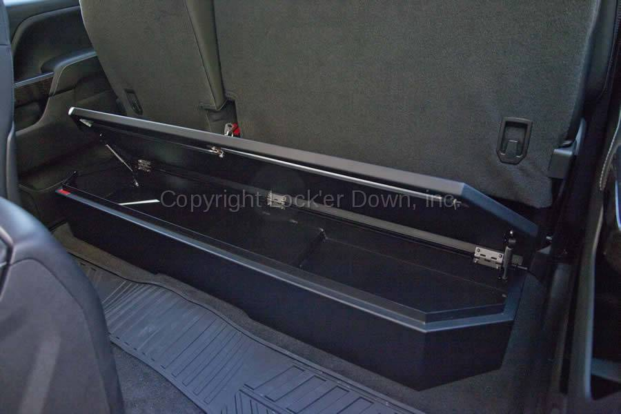 2014 Tacoma Double Cab >> SUVault® Model LD3011 2007 - 2018 Silverado / Sierra Crew Cab Under Seat Long Gun Safe