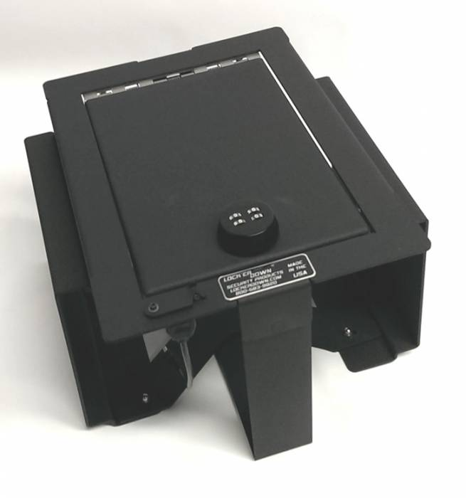 Lock'er Down® - Console Safe 2009 - 2012 Ford F150 with Full Floor Console also fits Raptor Platinum Model LD2026