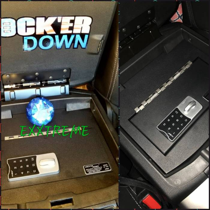 Lock'er Down® - EXxtreme Console Safe® 2009 to 2018 Dodge Ram 1500, 2500 & 3500 Model LD2028EX