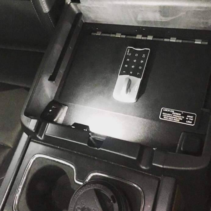 Lock'er Down® - EXxtreme Console Safe™ 2014 up Chevrolet Silverado & GMC Sierra 1500 Also  2015 - 2018 1500, 2500 & 3500 Series  Model LD2040EX