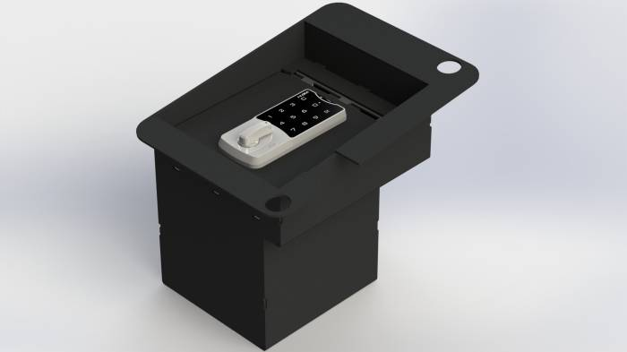 Lock'er Down® - Console Safe 2001 to 2007 Hummer H2 & H2 ST Model LD2006