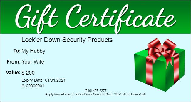 Lock'er Down® - Gift Certificate