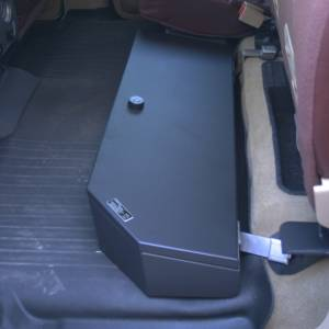 Lock'er Down® - SUVault® Model LD3026 2009 - 2020 F150 2017- 2020 SUPER DUTY F250, F350, F450 CREW CAB UNDER SEAT LONG GUN SAFE (WITH SUB-WOOFER) - Image 3