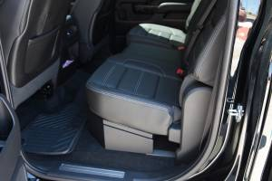 Chevrolet - Silverado - Lock'er Down® - SUVault® Model LD3011 2007 - 2018  Silverado / Sierra Crew Cab Under Seat Long Gun Safe (2019- 2500, 3500)