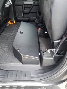Lock'er Down® - SUVault® Model LD3025 2009 - 2021 F150 2017- 2021 Super Duty F250, F350, F450 Crew Cab Under Seat Long Gun Safe - Image 2
