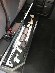Lock'er Down® - SUVault® Model LD3025 2009 - 2021 F150 2017- 2021 Super Duty F250, F350, F450 Crew Cab Under Seat Long Gun Safe - Image 5