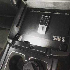 Secure Storage - Our EXxtreme Console Safes® - Lock'er Down® - EXxtreme Console Safe® 2014 to 2018 Chevrolet Silverado & GMC Sierra 1500 Also  2015 - 2019  2500 & 3500 Series Model LD2040EX